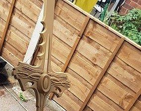 Goldar sword from mighty morphin power 3D print model 1