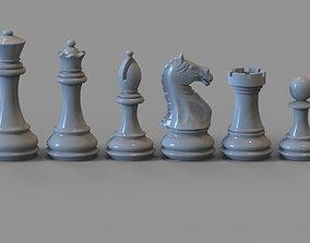 3D print model Chess set pieces