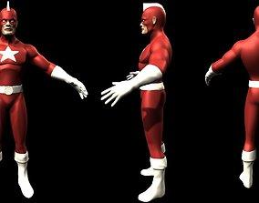 3D Red Guardian - Marvel