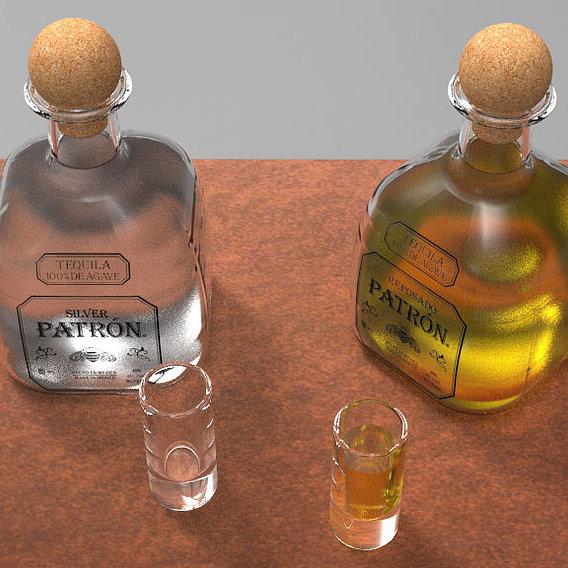Tequila Patron Bottle