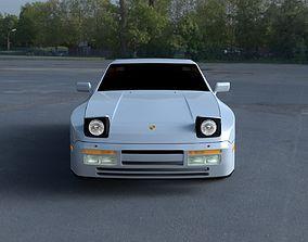 Porsche 944 S2 HDRI 3D model