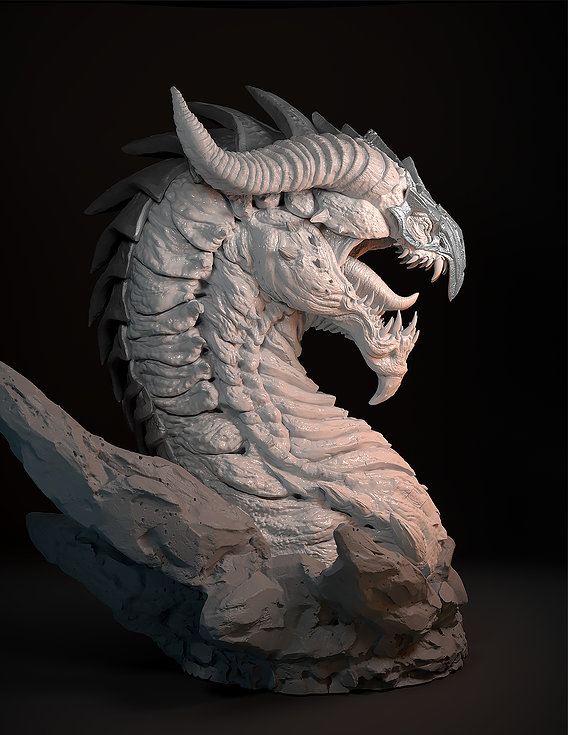 Screaming dragon head)