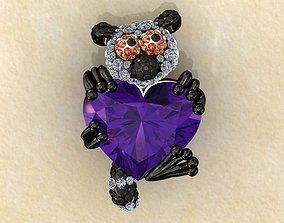 Lemur Heart Stone Charms Pendant 3D printable model