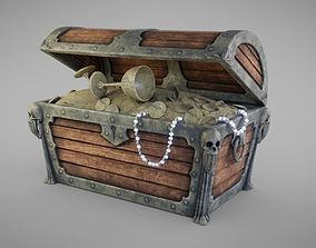 3D asset VR / AR ready Treasure Chest