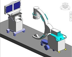Imaging C Arm and control sensor 3D model