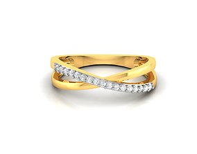 Women bride band ring 3dm render detail jewelry sterling