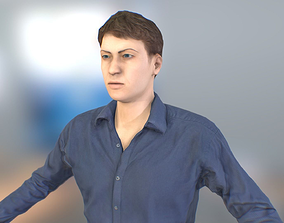 Office Man 3D asset