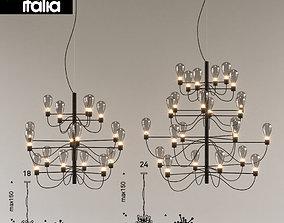 3D model Poseidon chandelier titanium