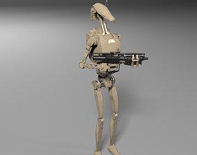 3D model Star Wars Battle Droid with Gun