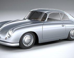 3D Porsche 356 Coupe split 1951