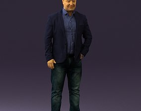 Man in blue jacket and jeans 0447 3D print
