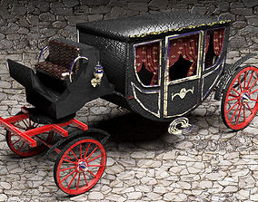 Luxury Horse Carriage 3D model traction