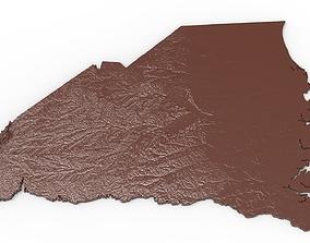 South Carolina Relief Map 3D printable model