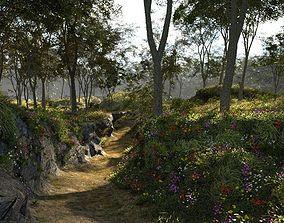 Sweet spring in Blender 3D