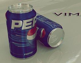 3D asset Pepsi Soft Drink Can