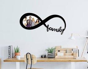3D print model Family infinity photo frame