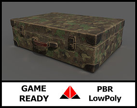 3D model low-poly Old suitcase