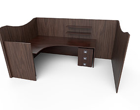 Game-Ready Office Work Desk with 4K-PBR Texture 3D asset
