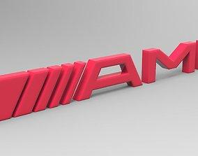 3D printable model Logo - amg