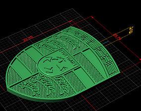 Porsche 3D printable model jewelry