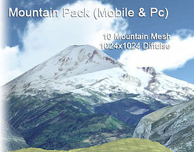 3D asset Mountain Pack lowpoly