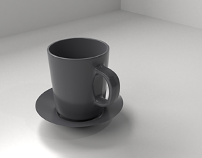 Cup and Saucer 10 3D model