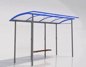 MMCite Skandum 110a Bus Shelter 3D model