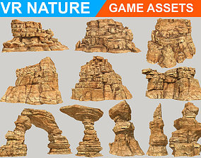 Low poly Realistic Canyon Desert Full Pack 180612 3D asset