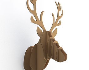 3D Cardboard Sculpture Deer