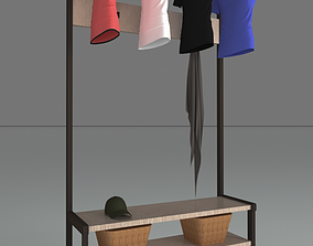 3D model Shoe and clothes rack