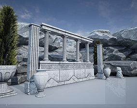Game Art Roman Asset Pack 3D model