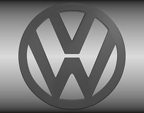VW logo 3D model
