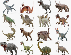 3D Rigged Dinosaur Collection