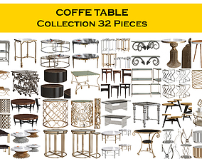 3D COFFE TABLE Collection 32 Pieces