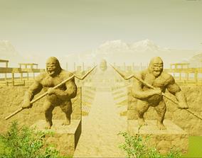 CW The Flash Gorilla City 3D Model
