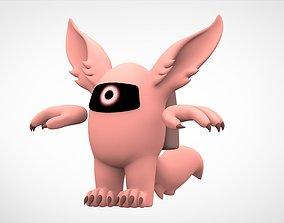 3D asset Among Us Peach Werewolf