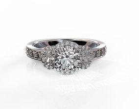 3D printable model Three stone engagement ring