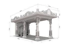 indian temple 3D
