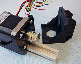 Nema 17 stepper motor mount 3D print model