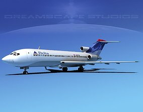 3D Boeing 727-100 Delta Airlines 3