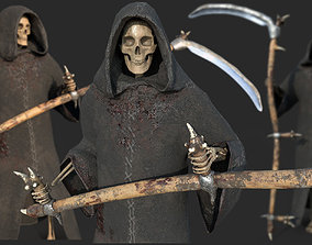 3D model Grim Reaper Rigged with Scythe