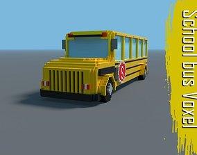 3D model School bus Voxel