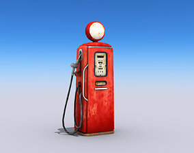 3D model Old Style Gas Pump