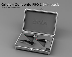 Ortofone Concorde Pro S twin pack 3D asset rigged