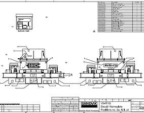 Sandvik vsi CV217 VSIRP108 impact crusher 3D model 1