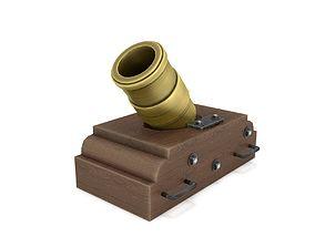 3D asset Brass Coehorn Mortar