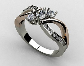 Diamond Ring 3D print model jewelry gem