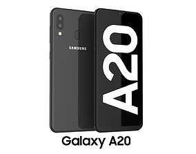 3D Samsung Galaxy A20 Black