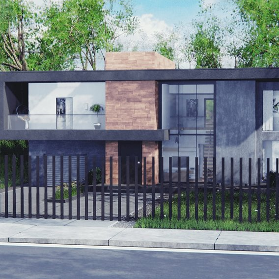 Modern House in Forest