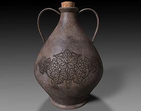 3D Ancient Terracotta Wine Jug